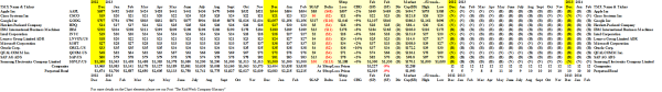"(B)(N) NYSE ""Big Techs"" - Prices & Portfolio - January 2014"