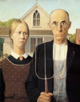 """American Gothis"", Grant Wood, 1930"