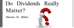 Do Dividends Really Matter?